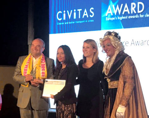 Bella Mossa wins Civitas award.